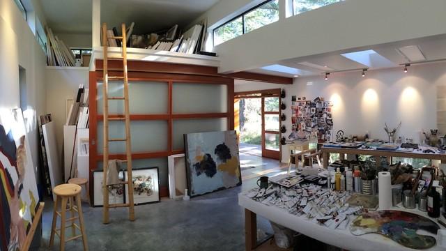 pender island art studio contempor neo dormitorio vancouver de heath lansdowne design studio. Black Bedroom Furniture Sets. Home Design Ideas