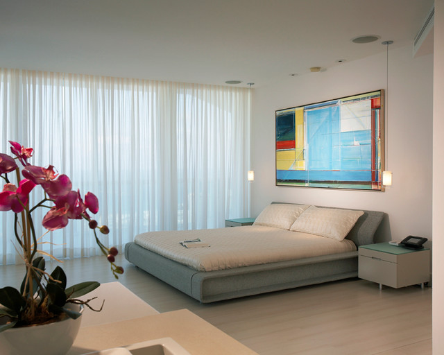 Penthouse Triplex in Sunny Isles, Florida contemporary-bedroom