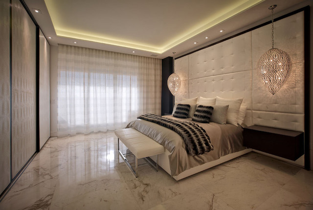 modern interior designers hollywood penthouse contemporary bedroom