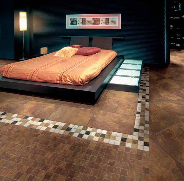 Perfectly Detailed Bedroom Floor Tile Contemporary Bedroom