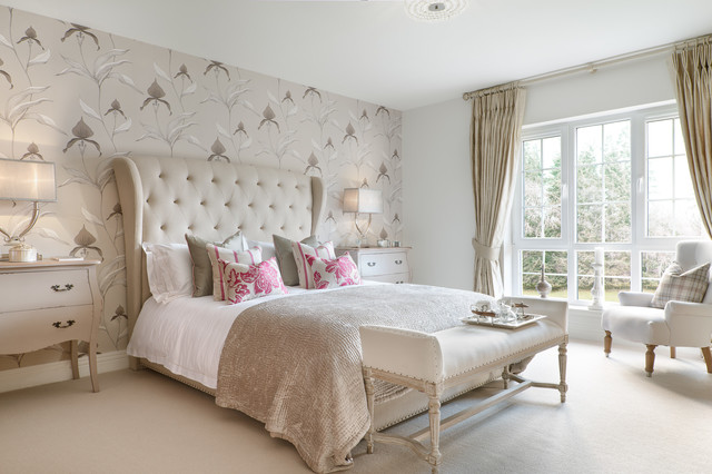 Perth Showhome Transitional Bedroom