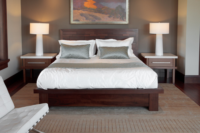 Peruvian walnut bed contemporary bedroom salt lake city by barton woodworks for Bedroom furniture salt lake city