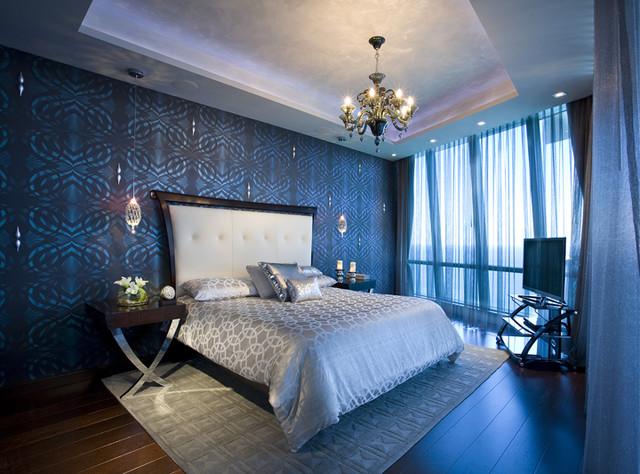 Pfuner Design Jade Ocean Penthouse Eclectic Bedroom