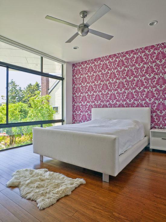 Hot Pink Damask Wallpaper Design Ideas, Pictures, Remodel ...