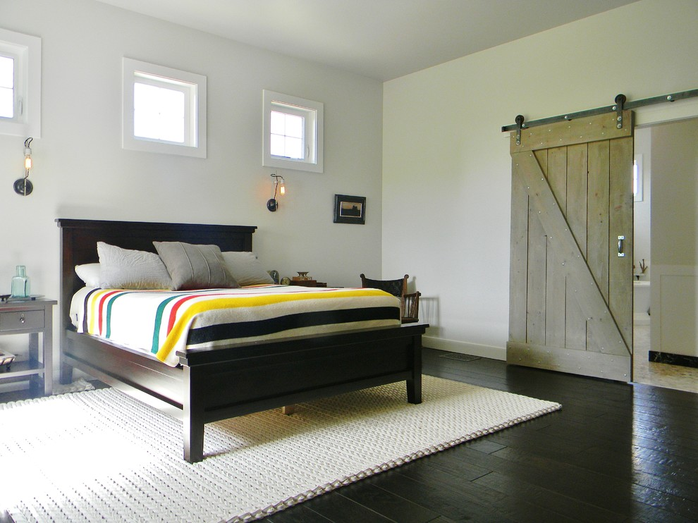 Inspiration for a farmhouse bedroom remodel in Seattle