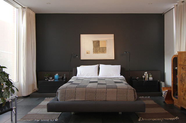 Photo susan armstrong 2013 houzz modern bedroom Dark paint colors for bedrooms