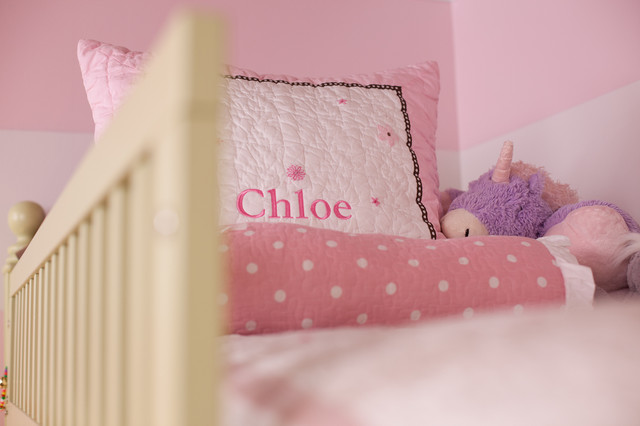 Pink & Green girls room traditional-bedroom