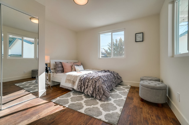 Pink Grey Girly Bedroom Contemporary Bedroom Los Angeles By Vbm Home Houzz Ie