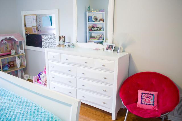 Pink Aqua Tween Bedroom Makeover