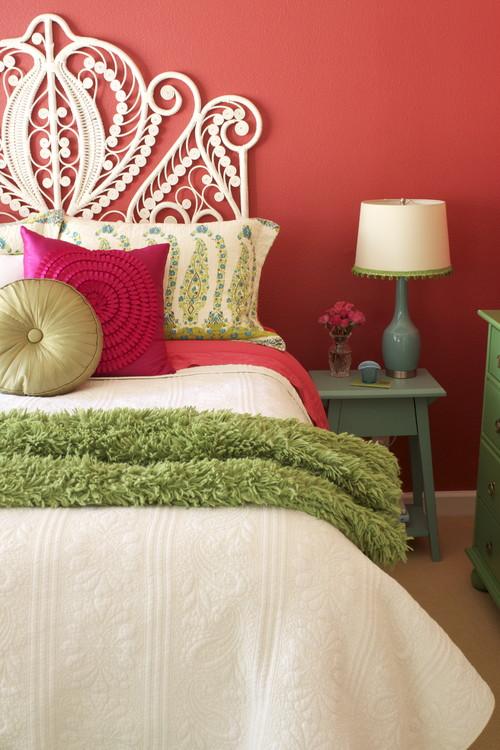 Pink Bedroom eclectic bedroom