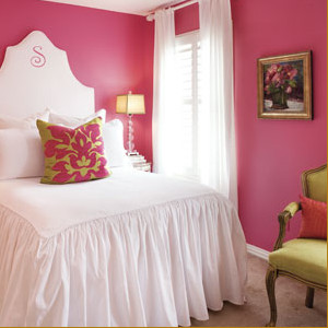 Pink Designs modern bedroom