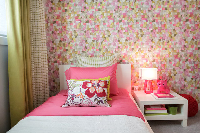 Pink green girls room modern bedroom calgary by for Pink green bedroom designs