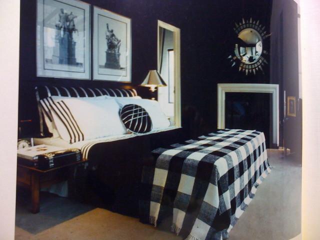 URBAN CHIC Plaid Bedroom in Manhattan Penthouse