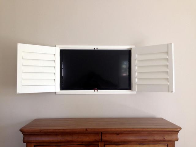 Plantation Shutters Tv Cabinet Craftsman Bedroom