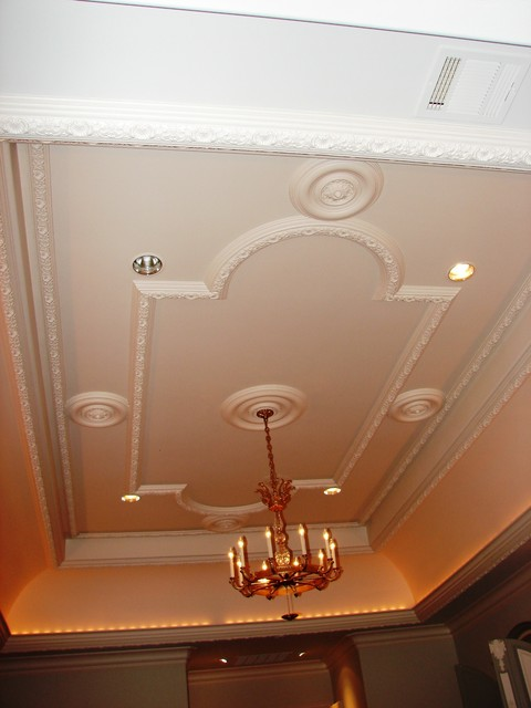 Plaster Ceiling Pattern Traditional Bedroom Dallas