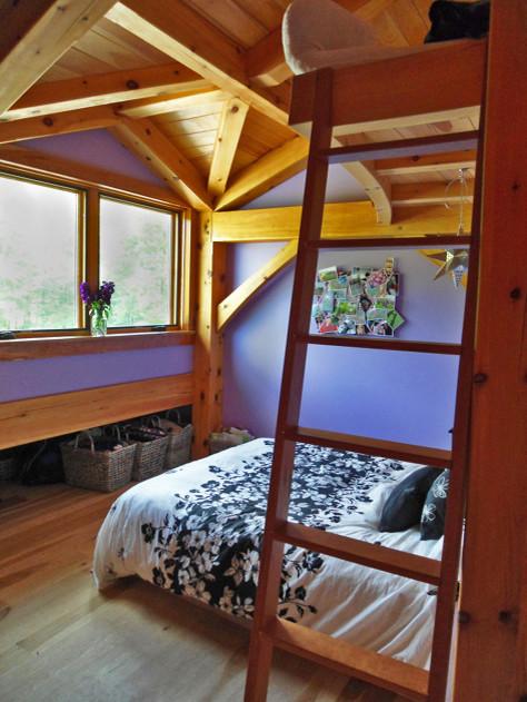 platform bed with loft storage traditional bedroom