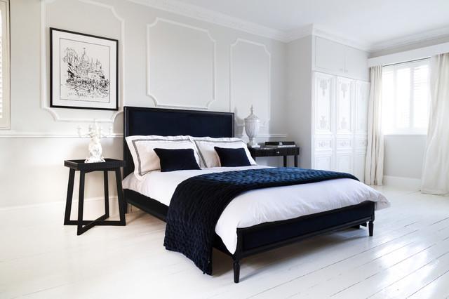 Plushious Velvet Navy Blue Bedspread - Contemporary ...
