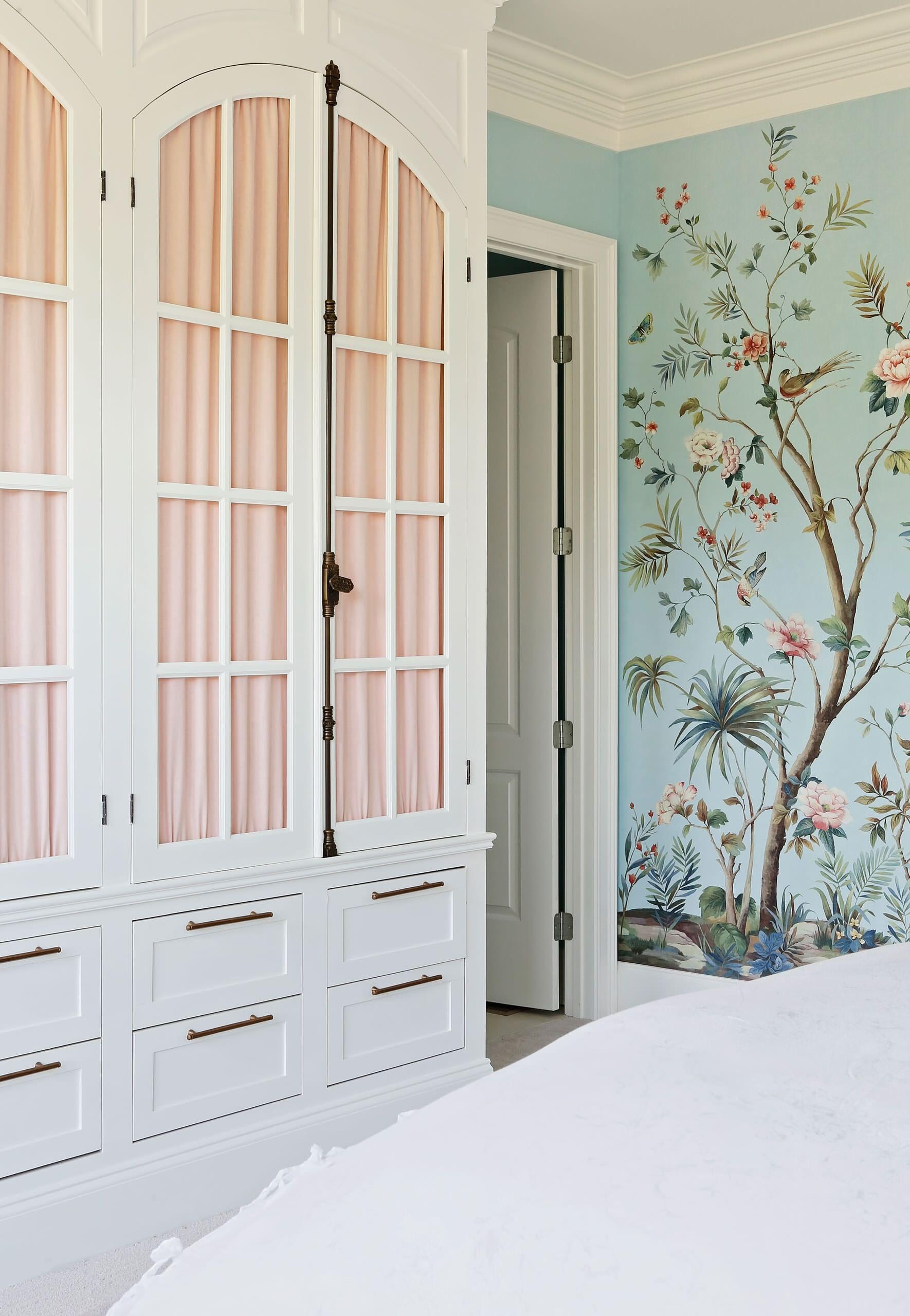 Blue Floral Master Bedroom
