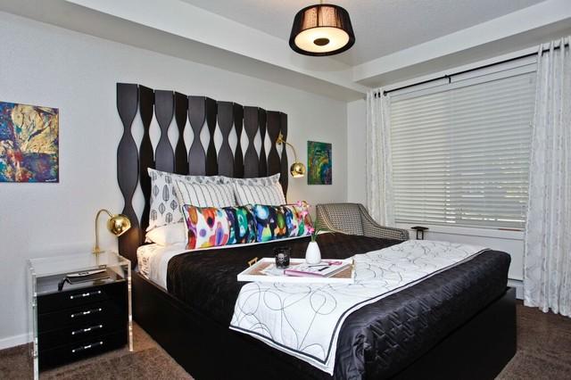 Pop Art Contemporary Bedroom Calgary By ANA Interiors