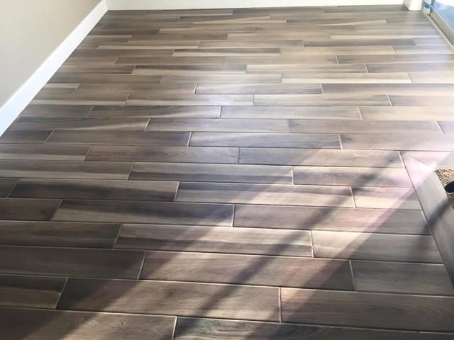 Porcelain Wood Look Plank Tile - Craftsman - Bedroom - Seattle - by ...