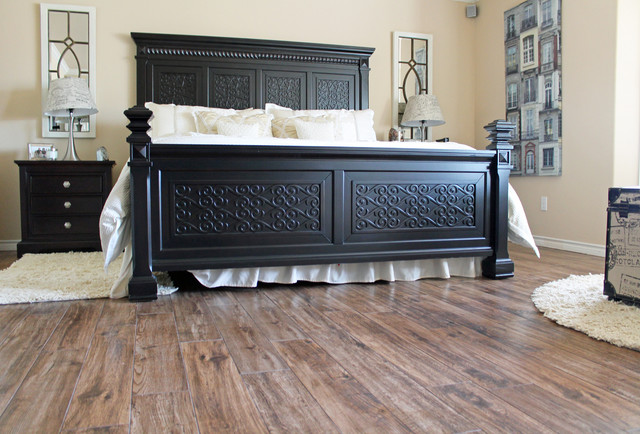 Marvelous Porcelain Wood Look Tile Bedrooms/Living Room/Office Contemporary Bedroom