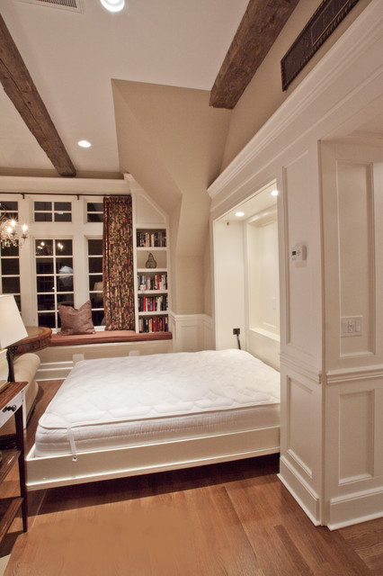 Porch with Fireplace / Guest House / Outdoor Living  / Personal Getaway traditional-bedroom