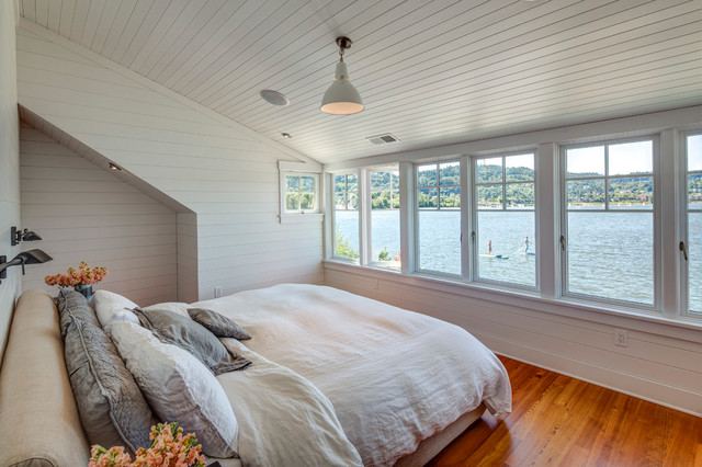Portland floating home beach style bedroom seattle Portland floating homes