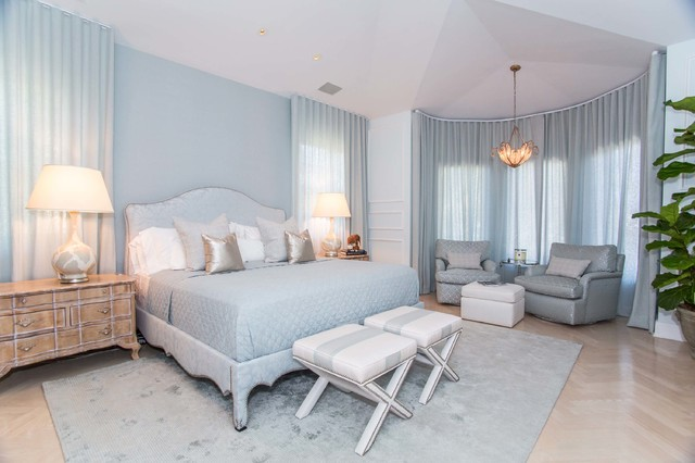 Porto Vita transitional bedroom  Transitional Bedroom Miami by Fein Zalkin Interiors