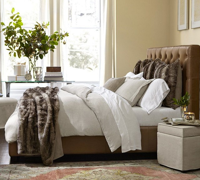 Pottery barn for White fur bedroom