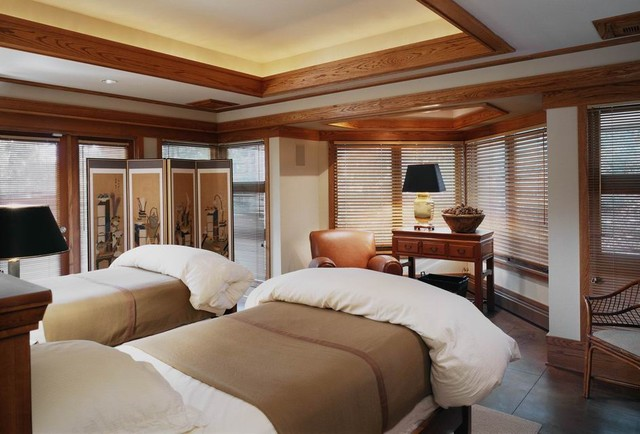 Prairie Style Architecture contemporary bedroom