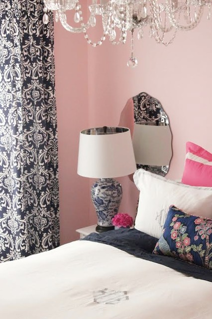 preppy chinoiserie transitional bedroom st louis by cure