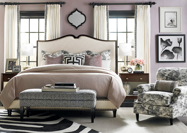 Presidio Upholstered Bed By Bassett Furniture Contemporary