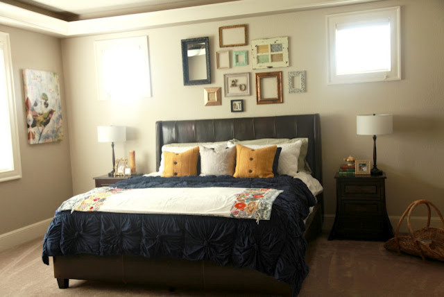Beau Pretty Frames On The Wall Eclectic Bedroom