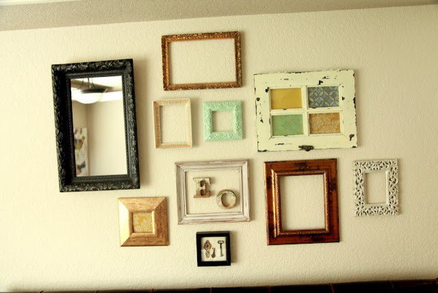 pretty frames on the wall eclectic bedroom portland
