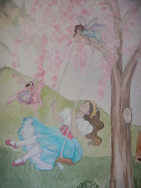 Princess and fairies bedroom san diego by chelsea for Fairy princess mural