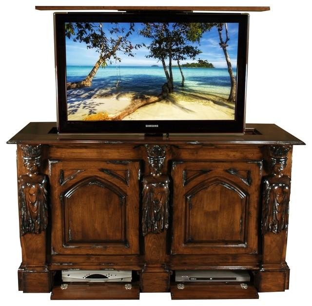 Bedroom Tv Furniture: Princess Hand Carved TV Lift Furniture Cabinet, US Made TV