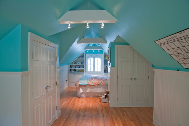 Princess Suite in transformed attic space traditional-bedroom