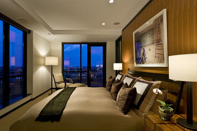 Private residence contemporary-bedroom
