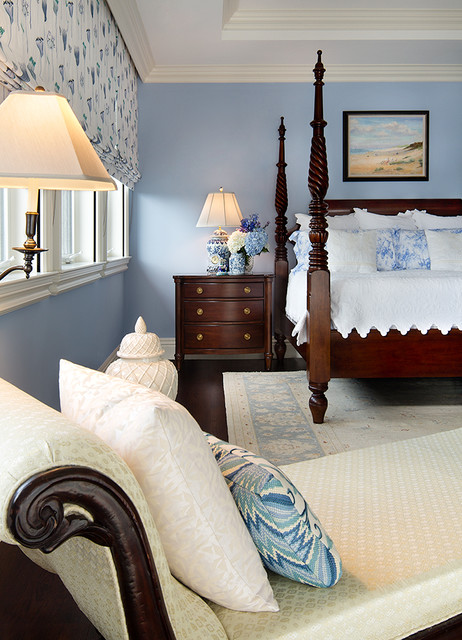 Private residence in british colonial style traditional - White colonial bedroom furniture ...