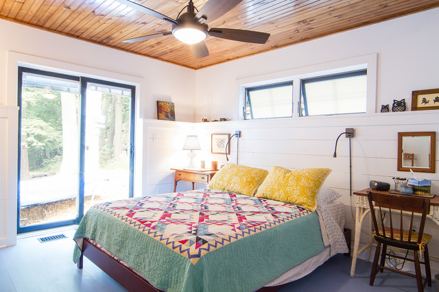 Private Residence Lake George Ny Rustic Bedroom