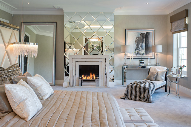 Private Residence on St Georges Hill, Weybridge, Surrey, England. traditional-bedroom