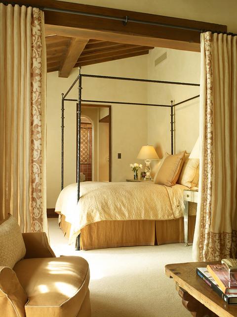 Private Woodside Residence mediterranean-bedroom