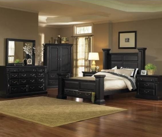 Progressive Torreon Antique Black Traditional Bedroom