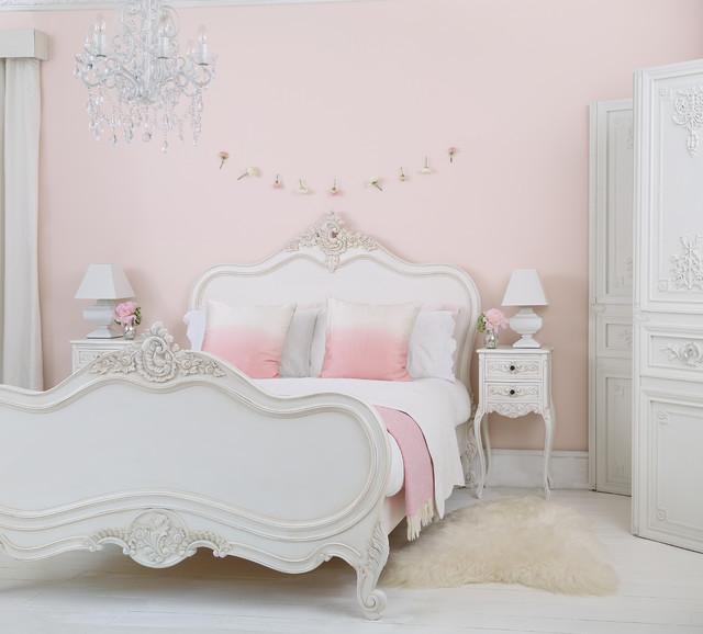 Provencal Louis XV White Luxury French Bed