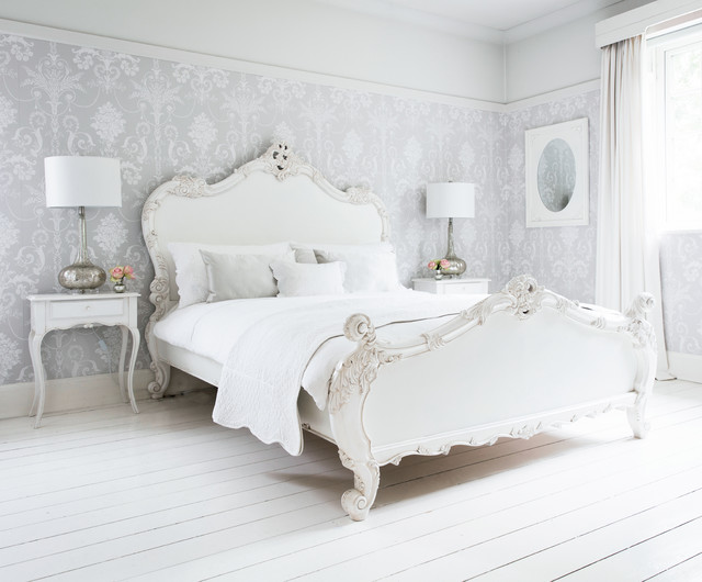Provencal Sassy White French Bed - Traditional - Bedroom ...