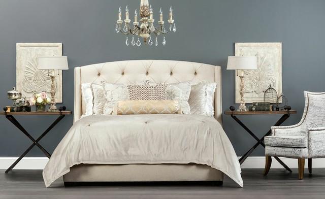 Pure romance jordan bed traditional bedroom houston for Jordan bedroom ideas