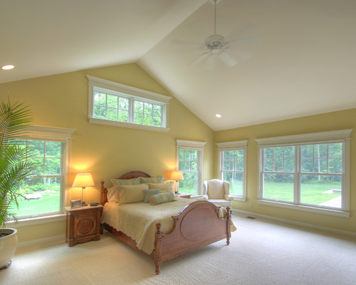 What color is the trim with this adams gold for Casual master bedroom ideas