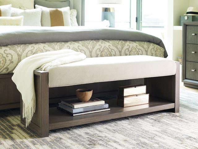 upholstered bench modern bedroom houston by star furniture