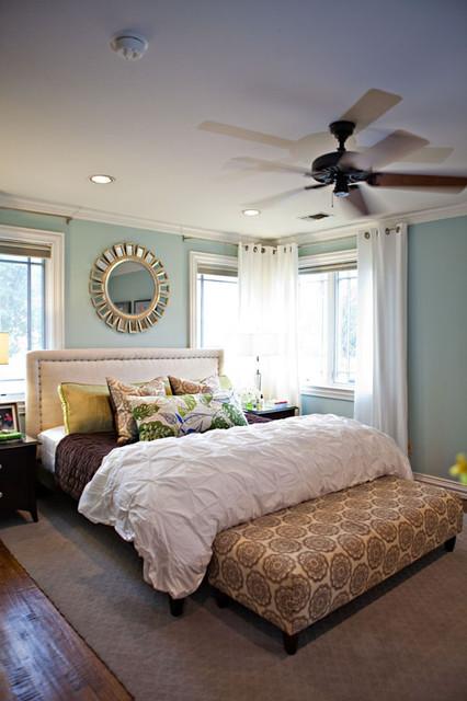 Rainwashed Master Bedroom