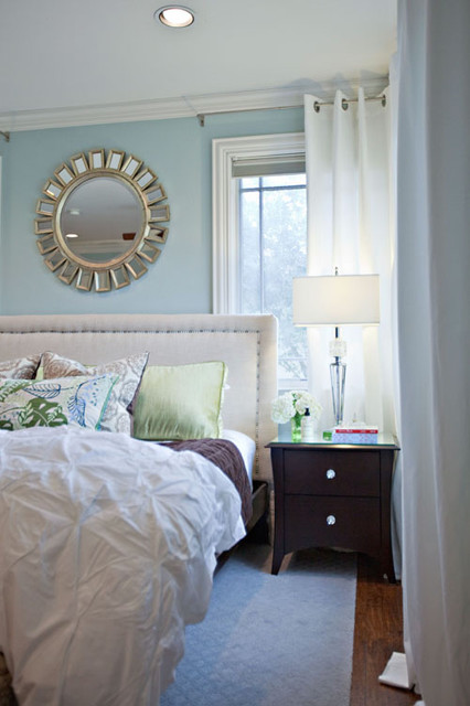 Rainwashed Master Bedroom eclectic-bedroom
